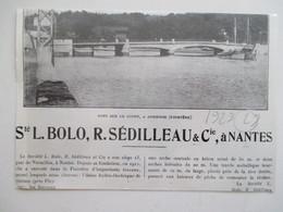 Année(1929)  AUDIERNE - Bateaux Au Pont - Ancienne Coupure De Presse - Historical Documents