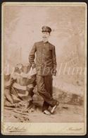 Photo / Cabinet Card / Cabinet Photo / Militair / Soldier / Soldat / Kongo / Congo / Ed. André / Ransart / 2 Scans - Guerre, Militaire
