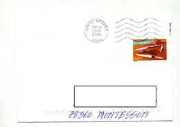 Lettre Flamme Mette Brest Armees - Marcophilie (Lettres)