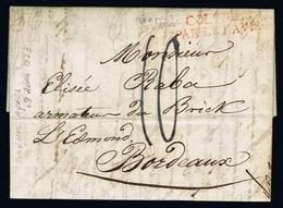 France Complete Letter Buenos Ayres Buenos Aires  28-4-1823  Colonies Par Le Havre -> Bordeaux. - Poste Maritime