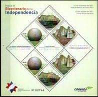Costa Rica 2019 ** Hacia El Bicentenario Independencia. Esferas Precolombinas.Teatro Nacional Crestones Del Chirripó. - Costa Rica