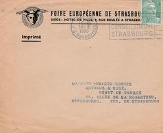 Env Affr Y&T 719 Obl OMEC STRASBOURG R.P. Du 18.8.1950 2EME SESSION / CONSEIL EUROPE / STRASBOURG Pour Strasbourg - Marcophilie (Lettres)