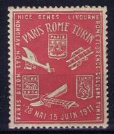 France Course D'Aeroplanes Paris - Roma - Turin 1911 - Aéreo