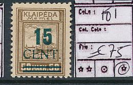 LITHUANIA MEMEL YVERT  181 LH - Lituanie