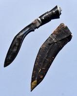 Couteau Ancien Poignard Indien Inde - 32 Cm - Armas Blancas