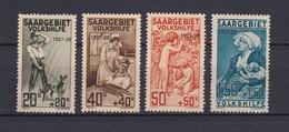 Saargebiet - 1927 - Michel Nr. 122/125 - Ungebr. - 35 Euro - Unused Stamps