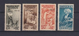 Saargebiet - 1927 - Michel Nr. 122/125 - Ungebr. - 35 Euro - 1920-35 Société Des Nations