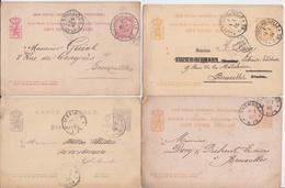 Luxembourg Entier Postal Mersch Diekirch Lot De 4 Entiers Postaux Librairie Bück Tampon Pépinièriste Charles Gemen - Stamped Stationery