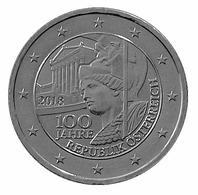 2018- AUTRICHE – REPUBLIQUE - 2 € PLAQUE ARGENT - Autriche