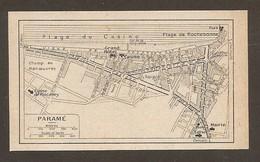 CARTE PLAN 1931 PARAMÉ - PLAGE Du CASINO GRAND HOTEL CHAMP De MANOEUVRES DIGUE - Topographische Kaarten