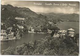 V3993 Portofino (Genova) - Castello Brown E Golfo Marconi - Panorama / Non Viaggiata - Italy