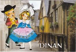 CARTE BRODEE: DINAN - Brodées