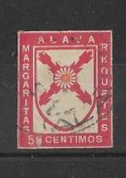 Margaritas - Requetes - Carlistas . ALAVA País Vasco Euskadi. 50 Centimos Rojo - Carlisten