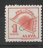 Subsidio Combatiene ALAVA. 1 Peseta . País Vasco,  Euskadi, Basque Country. - Impuestos De Guerra