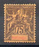 MARTINIQUE - YT N° 42 - Neuf * - MH - Cote: 36,00 € - Martinique (1886-1947)