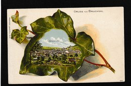 Germany-Gruss Aus Bruchsal 1900s - Antique Embossed Postcard - Germany