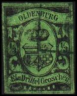 1859-1861. OLDENBURG. Staatswappen. 1/3 GROSCHEN. Fake? Thin/Dünn/Tynd. () - JF320634 - Oldenbourg