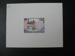 Haute-Volta épreuve De Luxe N°  329  Sport Vainqueur De La Coupe Du Monde De Football 1974 - Fußball-Weltmeisterschaft