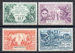 MARTINIQUE - YT N° 129 à 132 - Neufs * - MH - Cote: 27,00 € - Martinique (1886-1947)