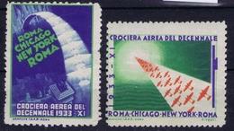 ITALY CROCIERA AEREA DEL DECENNALE 1933 ROMA - CHICAGO - NEW YORK ROMA - Luchtpost