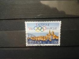 FRANCOBOLLI STAMPS SVIZZERA HELVETIA 1984 USED 60 ANNI ANNIVERSARY OLYMPIC COMMITTEE OBLITERE' SUISSE - Svizzera