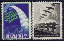 ITALY CROCIERA AEREA DEL DECENNALE 1933 ROMA - CHICAGO - NEW YORK ROMA - 1900-44 Victor Emmanuel III