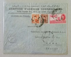 "Busta Di Lettera ""Comptoir D'Agences Commerciales"" Il Cairo-Como (Ita) - 04/09/1951 - Posta Aerea"
