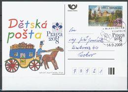 Tchéque République, Carte Postale Avec Publicité - Czech Republic