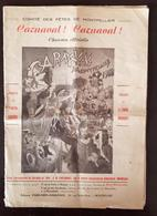 COMITE DES FETES DE MONTPELLIER: Carnaval Carnaval Chanson Officielle Vision Retrospective Du Canaval De 1900 - Partitions Musicales Anciennes