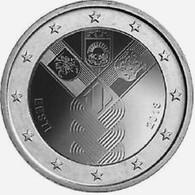 2018- ESTONIE – PAYS BALTES - 2 € PLAQUE ARGENT - Estonie