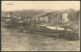 """COMBRES  ( Eure-et-Loir ) ~1915 """" Apres Inondation Vue Generale """" + FELDPOST Allemagne > Köln-Sülz - France"""