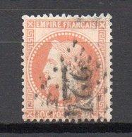 - France N° 31 Oblitéré Losange GC - 40 C. Orange Napoléon III Lauré 1868 - Cote 25 EUR - - 1863-1870 Napoléon III Lauré