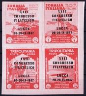 ITALY  ESPOSIZIONE DI POSTA AEREA   IV GIORNATA FILATELICA    RIMINI S. MARINO 1947 - 1900-44 Victor Emmanuel III.