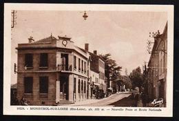 MONISTROL SUR LOIRE: Belle Vue éclairée Sur La Nouvelle Poste Et La Route Nationale - Monistrol Sur Loire