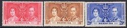Bermuda GVI 1937 Coronation Set Of 3, Hinged Mint, SG 107/9 (A) - Bermuda