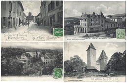 SUISSE - LA SARRAZ - Lot De 4 CPA - 1907 à 1909 - Dont 1 Cachet Ambulant - VD Vaud
