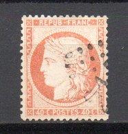- France N° 38 Oblitéré Losange - 40 C. Orange Cérès Siège De Paris 1870 - Cote 12 EUR - - 1870 Assedio Di Parigi