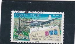 4299 Oblitéré   (2008)  Ann; 1er Vol Isarel France - France