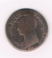 5 CENTIMES L'AN 6 W (lille) FRANKRIJK /932/ - 1789-1795 Monnaies Constitutionnelles