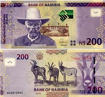 NAMIBIA       200 Dollars       P-15b       2015       UNC - Namibia