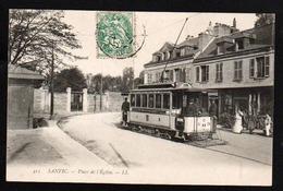 SANVIC: Plan TOP Sur Le Tramway En Pleine Lumière Avec Une Belle Animation. Carte Obl. En 1907. SUPERBE - France