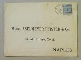 Busta Di Lettera Gibilterra-Napoli - Anno 1897 - Gibilterra