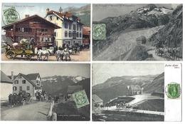 SUISSE - FURKA - Lot De 4 CPA - 1907 à 1909 - Attelages - UR Uri