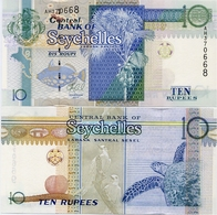 SEYCHELLES       10 Rupees       P-42        2013       UNC - Seychelles