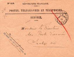 """L- Cachet: """" Poste Aux Armées-avec Numéro """"- -  Avec Etoiles-  *N° 36*- - Marcophilie (Lettres)"""