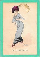 XAVIER SAGER - Boulevard Des Italiens - Femme élégante - Sager, Xavier
