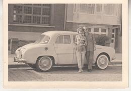 Couple Devant Old Timer - 1962 - Photo 7.5 X 10 Cm - Automobile