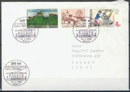 Tchéque République, Lettre Avec Publicité Affr  Mi 71+153+ Automat 1 - República Checa