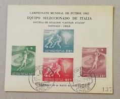 "Cartolina ""Campeonato Mundial De Futbol 1962"" - Santiago, Chile - Cile"