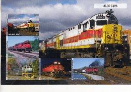 Locomotives  -  Alco C424   -  5v Feuillet Mint/Neuf/MNH Imperf/Non Dentelé - Trains
